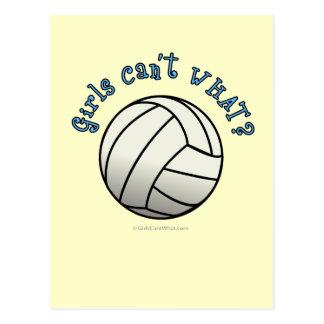 White Volleyball Team Postcard