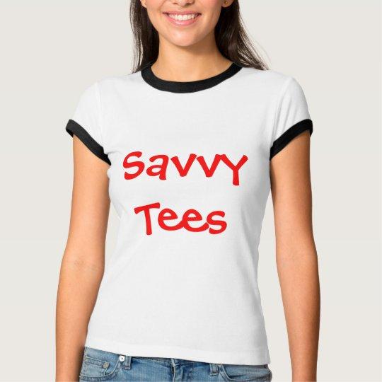 White w/ Black Trim Savvy Tees