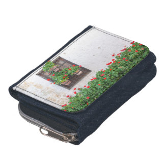 White Wall and Network Flowers Wallet