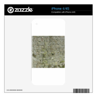 white wall of block decals for iPhone 4S