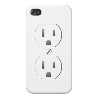 White Wall Outlet Design iPhone 4/4s iPhone 4/4S Covers