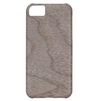 White Walnut Wood Grain Look Cover For iPhone 5C