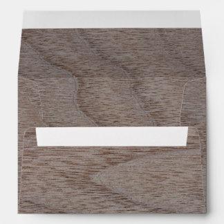 White Walnut Wood Grain Look Envelope