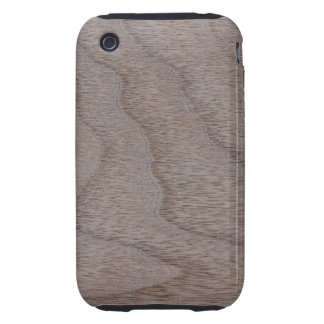 White Walnut Wood Grain Look iPhone 3 Tough Cover