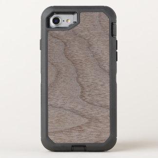White Walnut Wood Grain Look OtterBox Defender iPhone 7 Case