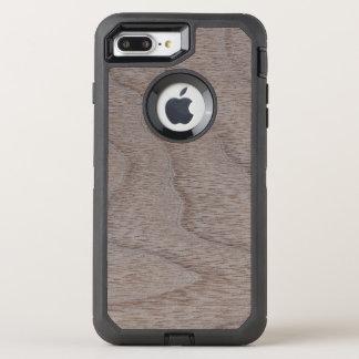 White Walnut Wood Grain Look OtterBox Defender iPhone 7 Plus Case