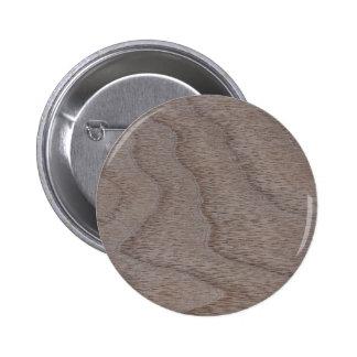 White Walnut Wood Grain Look Pinback Button