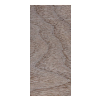 White Walnut Wood Grain Look Rack Card