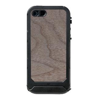 White Walnut Wood Grain Look Waterproof Case For iPhone SE/5/5s