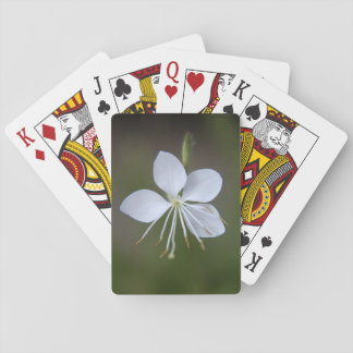 White Wand Flower (Whirling Butterflies) Playing Cards