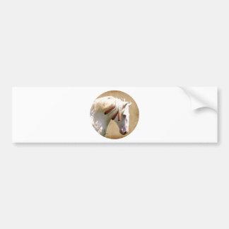 White War Horse Bumper Sticker
