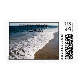 White Wash Waves of Florida Postage Stamp
