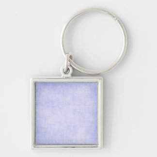 White Washed Blue Silver-Colored Square Keychain