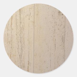 White washed classic round sticker