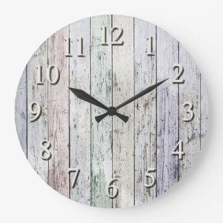 White washed wall clock