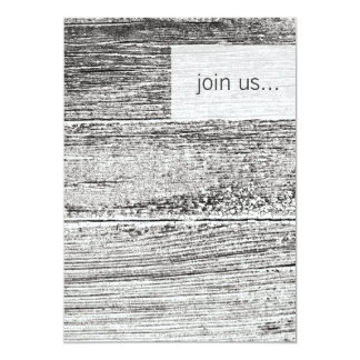 White Washed Plank Contemporary Invitation