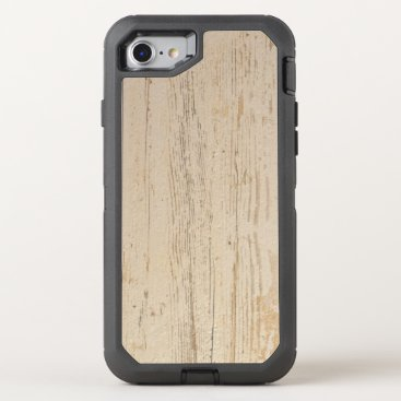 Beach Themed White washed wood grain OtterBox defender iPhone 8/7 case
