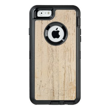 Beach Themed White washed wood grain OtterBox defender iPhone case