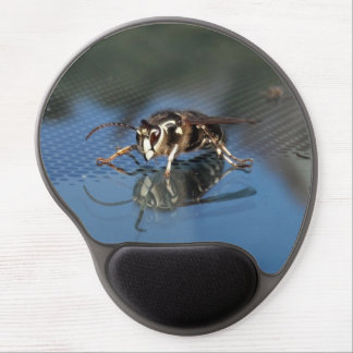 White Wasp Gel Mouse Pad
