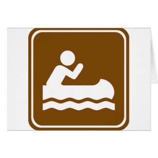 White Water Canoeing  Highway Sign Card