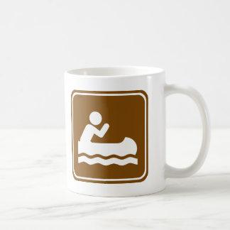 White Water Canoeing  Highway Sign Coffee Mug