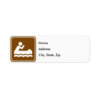 White Water Canoeing Highway Sign Label