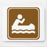 White Water Canoeing  Highway Sign Mouse Pads