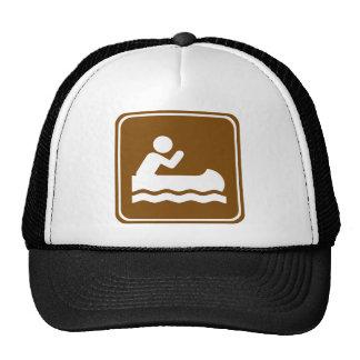 White Water Canoeing  Highway Sign Trucker Hat