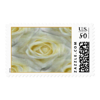 White Water-Color Roses Postage