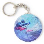 White Water Kayaker Keychain