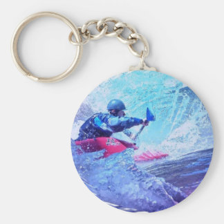 White Water Kayaker Keychain