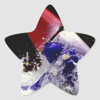 WHITE WATER KYAKING. STAR STICKER