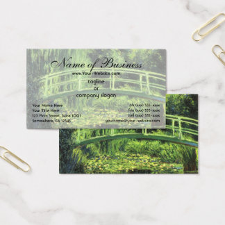 White Water Lilies by Claude Monet Business Card