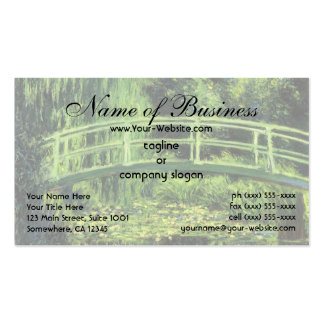 White Water Lilies by Claude Monet Double-Sided Standard Business Cards (Pack Of 100)