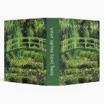 White Water Lilies by Monet, Vintage Impressionism Binder
