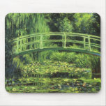White Water Lilies by Monet, Vintage Impressionism Mouse Pad