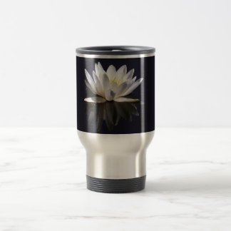 White Water Lily 15 Oz Stainless Steel Travel Mug
