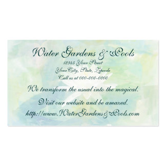 White Water Lily Business Card