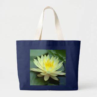 White Water Lily Fashion Large Tote Bag