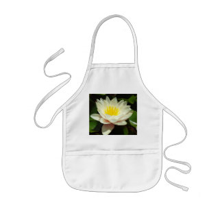 White Water Lily Flower Kids' Apron