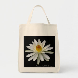 White Water Lily Grocery Tote