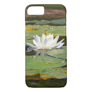 white water lily in pond iPhone 8/7 case