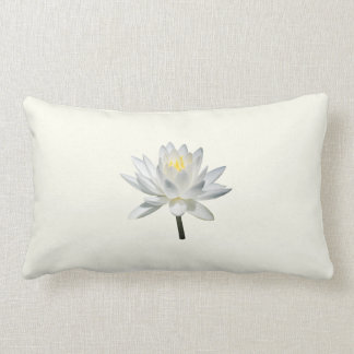 White Water Lily in Sunshine Throw Pillows