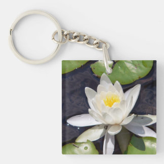 White Water Lily Key Chain