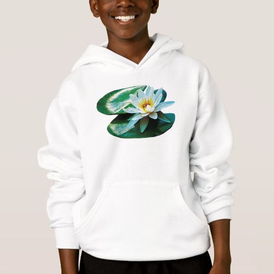 White Water Lily Kids Hoodie