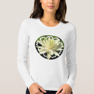 White Water Lily Long Sleeve Ladies T-Shirt