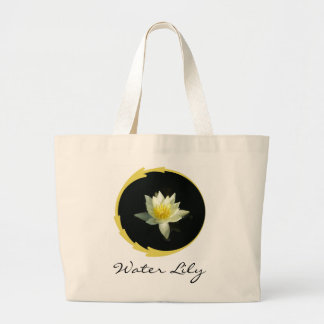 White Water Lily/Lotus Canvas Bags