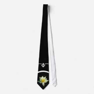 White Water Lily/Lotus Tie
