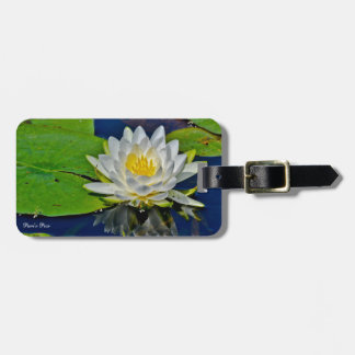White Water Lily Luggage Tag