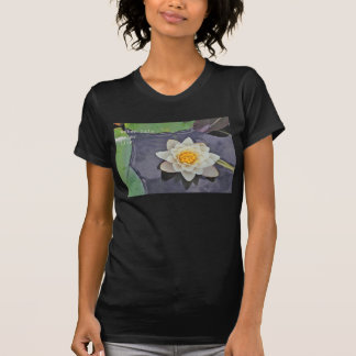 White water lily with lily pads on a pond T-Shirt